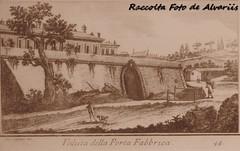 1779 Veduta della Porta Fabbrica di G. Cassini. (Roma ieri, Roma oggi: Raccolta Foto de Alvariis) Tags: 1779 raccoltafotodealvariis portafabrica digcassini quartiereaurelio sanpietro cittdelvaticano roma rome italy