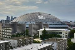Nagoya Dome ,Japan . (marcelo.nakazaki) Tags: japao japon japan nagoya aichiken asia aoarlivre arquitetura predio cidade city nagoyadome ceu sky nuvem outono arvores tree