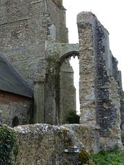 P1120004 (jrcollman) Tags: churchestemplesetc places church churchofsaintandrewcovehithe europeincldgcanaries quirky covehithe flint thatch britishisles suffolk