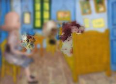 Vase in van gogh room (mydolladventure) Tags: dolls fashiondoll rosie vangogh
