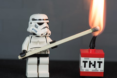 Light it up (jeff's pixels) Tags: macromondays handlewithcare macro lego starwars flame match minifigure tnt fire toy nikon d750 105mm