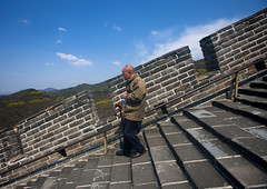 Old Man Going Down The Great Wall, Beijing, China (Eric Lafforgue) Tags: china vacation people mountain color colour brick tower history tourism nature vertical horizontal stone wall architecture stairs wonder outside person photography ancient asia solitude day outdoor miracle extreme beijing location unescoworldheritagesite step stonewall greatwall copyspace badaling setting ancientcivilization fortress brilliant touristattraction adultsonly oneperson buildingfront onepeople greatwallofchina rockformation chineseculture pekin northchina capitalcity realpeople colorimage steppy historicallandmark famousplace buildingexterior fulllenght nationallandmark nonurbanscene fortifiedwall internationallandmark traveldestination 1people focusonforeground beijingprovince builtstructure mg9522