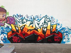BOOM!! (missREDS_AM7) Tags: red graffiti paint miami spraypaint graff piece reds 004 artbasel am7 ironlak missred miamigraffiti amseven fewandfar 004connec fewfar missreds allmightyseven