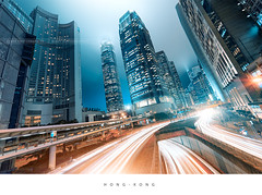 Hong Kong (Beboy_photographies) Tags: city light skyline night hongkong hong kong trail manual manualblending
