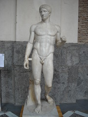 "The ""Doryphoros"" from Pompeii - End 2nd-beginning 1st century BC from Greek original by Polykleitos about 440 BC - Naples Archaeological Museum (* Karl *) Tags: pompeii napoli naples pompei archaeologicalmuseum doryphoros polykleitos napoliarcheologico"
