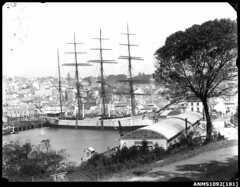 LORD RIPON moored at Woolloomooloo Bay (Australian National Maritime Museum on The Commons) Tags: coconut harbour sydney woolloomooloo wharf sydneyharbour cocoanut wharves woolloomooloobay harbourscenes williamhall lordripon williamhallcollection