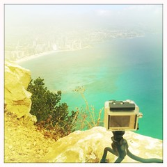 GoPro on the job (billyrosendale) Tags: june spain espana 2012 denia iphone calpe calp hipsta penyaldifach hipstamatic