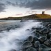 Dunstanburgh Castle at sunset