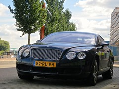 Bentley Continental GT (Walther H) Tags: auto summer car drive rotterdam wheels engine continental automotive ferrari porsche gt bentley 2012 carspotting canons100 autogespot waltherhphotography