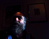Nayland Blake (Mr Flikker) Tags: bear newyorkcity gay portrait man male dark beard artist homosexual professor gaze icp hirsute naylandblake