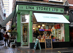 Lina Stores Ltd: Brewer Street (curry15) Tags: london shop soho italianfood shopfront delicatessen eaudenil freshpasta brewerst vitrolite londonshops w1f italianshop linastoresltd