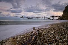 Sunrise Punta Aderci (Marco Colonna) Tags: sea seascape beach clouds sunrise nuvole alba spiaggia seacoast abruzzo onde hoya conchiglie longexposures vasto trabocco costadeitrabocchi puntaaderci trabucchi nd16 marcocolonna costaabruzzese