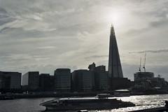 The Shard (sasseymills) Tags: london skyline architecture iso200 nikonf100 fujicolor200 riverthames 135film theshard copyrightchristineleman meteredatboxspeed nophotoshopuploadedstraightfromlabscans processandsannedbygenieimagingltd kpmgthamesclipper