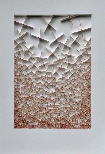 Herman Coppus papierreliëf 50x70cm
