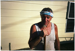 Macca, Thursday Island (electricnerve) Tags: film nikon fuji action superia touch queensland aussie bloke thursdayisland