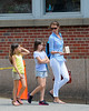 Christy Turlington walks with her daughter in NYC