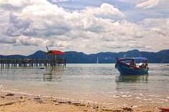 Beautiful beach ~ (al.joharah al.ajmi) Tags: morning sea beach nature beautiful canon wonderful boat view scene langkawi sands jojo                alajmi aljoharah