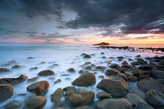 Sunset at Sponge Bay (Luke Tscharke) Tags: longexposure sunset newzealand colour geotagged rocks waves boulders wash le nz gisborne eastcoast spongebay almostgotwet 5d3 5dmarkiii geo:lat=38700030200168705 geo:lon=17805704534053802