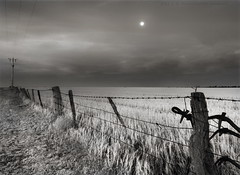 Moonlight after the harvest (PhotoArt Images) Tags: fence mono blackwhite harvest australia monochromatic victoria moonlight hff dimboola nikond700 nikon2470mm28 niksilvereffexpro bestevercompetitiongroup photoartimages besteverexcellencegallery