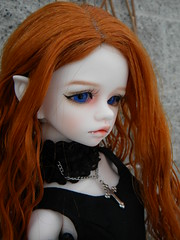 cossette 3 (OctoberDolls) Tags: blue red face up ball hair eyes doll vampire mind bjd fangs dim default cossette jointed bellosse