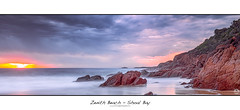 Zenith Beach - Shoal Bay (John_Armytage) Tags: panorama seascape sunrise newcastle dawn pano australia panoramic nsw canon5d nelsonbay carlzeiss shoalbay leefilters northcoastnsw novaflex carlzeiss50ml14