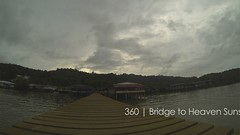 360 | BTH Sunset (mubarak.mashor) Tags: bridge houses friends sunset sea people storm black water kitchen rain tomato walking three diy wooden timelapse heaven flat cut tripod wide photographers 360 running mount final walkway pro hd adhesive edition timer brunei sunless stilts sixty 1080 interval bth gopro hero3 istopmotion 12mp 2secs notagorillapod