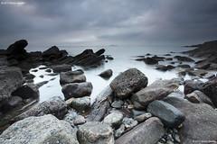 Seafield, minutes after sunrise (SwaloPhoto) Tags: clouds sunrise coast scotland rocks fife stones shoreline coastal northsea firthofforth kirkcaldy bythesea seafield canonef1740f4lusm leefilters canoneos5dmkii 0506600klandscape210124