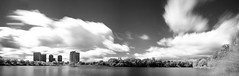 High Park (garycphoto) Tags: park city sky white lake toronto ontario canada black skyline clouds photoshop landscape high skies infrared stitched hoya