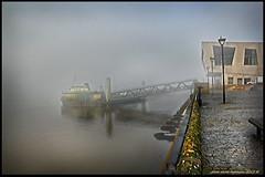 FERRY NOT RUNNING (Derek Hyamson) Tags: fog ferry liverpool waterfront hdr mersey