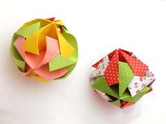 An Amarillo and Armored Ball, Toshikazu Kawasaki (Aneta_a) Tags: snow origami kawasaki modularorigami kusudama toshikazukawasaki octahedralsymmetry