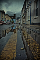 restricted parking (Georgio's Photography) Tags: reflection lines reflections town kent seaside lead whitstable leadin