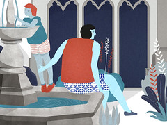 fountain (sari cohen) Tags: fountain illustration illustrator animatedgif  ipad  saricohen  sariannecohen  sariancohen  scrawlmagazine