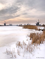 Kinderdijk, Windmills in the winter 2 (Alex Verweij) Tags: winter snow cold mill ice alex canon wind sneeuw windmills 7d mills riet molen ijs koud molens 2013 verweij alexverweij mygearandme 26jan2013