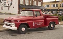 Early 1960s GMC pickup, Simpsonville SC (Thumpr455) Tags: red truck vintage nikon antique southcarolina pickup restored gmc v6 d800 stepside simpsonvillesc