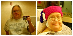 Before and After Heart Surgery (MountainEagleCrafter (Catching Up)) Tags: beforeandafter heartsurgery 112picturesin2012 august15and162012 thedoctorwashighlyentertainedbymysillyhat