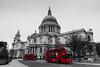 _MG_4629 (Fernandolunad) Tags: red urban bus london rojo cathedral catedral desaturation londres urbano saintpaul amarilla sanpablo selectivedesaturation desaturación desaturado