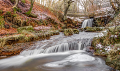 Blow Gill Waterfall...IMG_8313.jpg (Katybun of Beverley) Tags: uk longexposure trees winter snow landscape waterfall rocks yorkshiremoors hawnby blowgillwaterfall