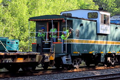 Air Products crew (Hank Rogers) Tags: pa pennsylvania yatesville train rr railroad airproducts crew people workers caboose summer green petroleum oil industry economy economic rail freight