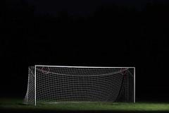 Night Game (Matt GNH) Tags: alienbees alienb800 aim alone dream flash goal nauticaltwilight net night nighttime soccer solitary sport strobe twilight