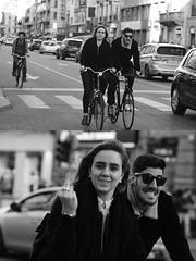 [La Mia Città][Pedala] un dito e un sorriso (Urca) Tags: portrait blackandwhite bw bike bicycle italia milano bn ciclista sorriso biancoenero mirò bicicletta dito 2016 pedalare dittico 87270 nikondigitale ritrattostradale