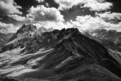 Towards Marmolada (nigelhunter) Tags: dolomites italy alps canazei clouds sunshine landscape mountain marmolada ngc