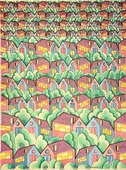 20160125 (regolo54) Tags: regolo54 tessellation tiling wallpaper handmade escher mcescher watercolor aquarelle progression housestark