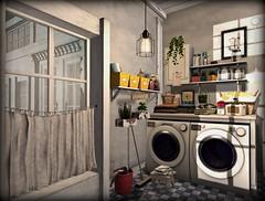 Laundry Room (AGodenot) Tags: lindini l2 applefall pixelmode keke secondspaces thearcade 8f8 nefariousinventions lisp sevenemporium fashionablydead ysys omen floorplan zenith post fanatikhome