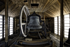 The Bell (Frank C. Grace (Trig Photography)) Tags: newbedford massachusetts unitedstates bell belltower historic history newengland old manual rotchfamily d810 fisheye frankcgrace trigphotography tower churchbell church unitarian eighthstreet whalingcity