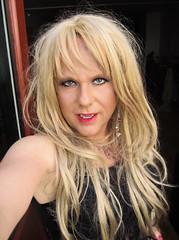 It's sooo hot here! (Irene Nyman) Tags: closeup makeup tranny face red lips hot heatwave dutch crossdresser lace bodystocking teddy