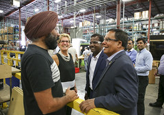 IMG_1132  Premier Kathleen Wynne toured RAM Plastics in Scarborough. (Ontario Liberal Caucus) Tags: scarborough industry thiru smallbusiness business