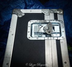 Day 231, 2016, a photo a day. (lizzieisdizzy) Tags: box case flightcase musical instrument hard metaledging oblong shaped protection lock key safe rivets spring turner safetycatch