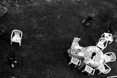 La bella estate (Cristina Seguiti) Tags: giardino dallalto esterno blackwhite garden table monochrome openair summer vicovaro sedie bianconero tables chairs upside black white contrast contrasto estate mandela paese town cena dinner canon