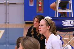 IMG_5078 (SJH Foto) Tags: girls volleyball high school lancaster mennonite pa pennsylvania team tween teen teenager varsity candid sidelines bench coach brittini oneonone advice
