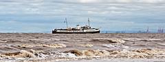 balmoral enters the dee (midcheshireman) Tags: ship vessel boat balmoral beach river dee riverdee liverpool sea cheshire marine maritime
